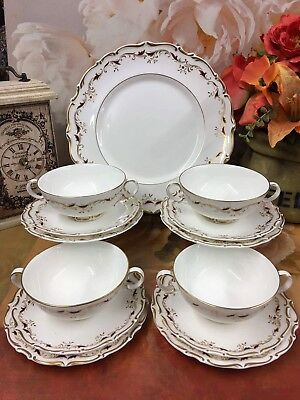 16 Pice Royal Doulton Strasbourg Bone China Soup Cup Saucer & Dining Plate