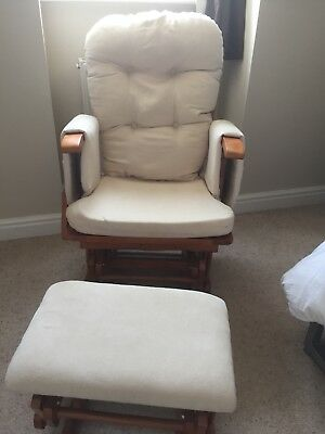 Baby Weavers Nursing Reclining Gliding Rocking chair with gliding Footstool