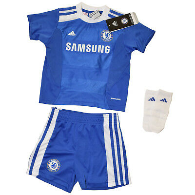 adidas FC Chelsea Home Baby Trikot Minikit Mini Kit 3er Set Gr 80 LP 50 € TOP