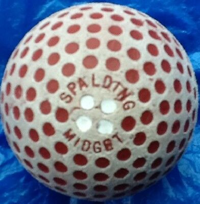 SUPERB SPALDING  MIDGET GOLF BALL c1905