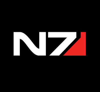 Mass Effect N7 Sticker Decal for Xbox- PS4-Laptop- PC Case- Car Window
