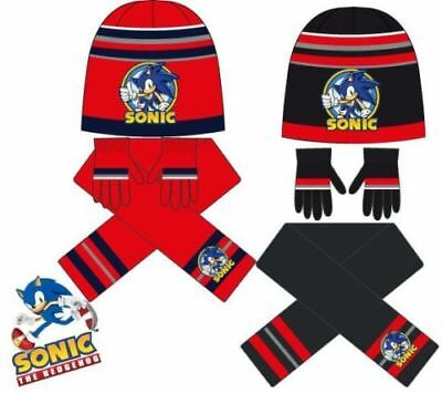 Childrens Sonic The Hedgehog Sega Scarf,Gloves & Hat Set