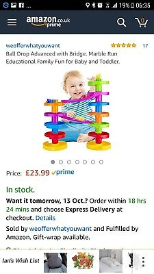 Ball drop Advanced  for Baby and Toddler.Sold on Amazon for £23.99.