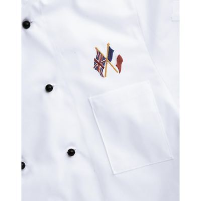 Non Branded Embroidery Crossed Flags Country Shirt Top Chef Decoration Workwear