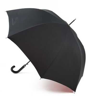 New Genuine Jaguar Large Umbrella With Leather Handle Black And Red
