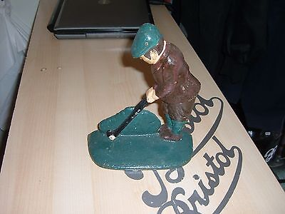 cast iron golfer door stop doorstop lower price