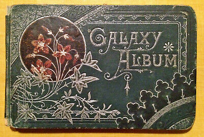 Antique GALAXY ALBUM Autograph Book with Inscriptions Dated 1882 L. Prang and Co