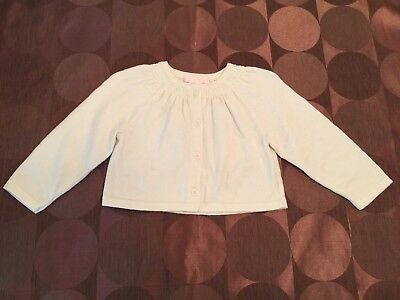 Janie and Jack Baby/ Toddler Offwhite Girls Sweater 12-18 Months