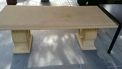 Concrete outdoor table delivery neg <25kms from eltham $50 easy access