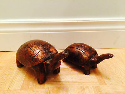 Wooden Turtle Jewelry Box