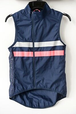 Rapha Brevet Gilet, Dark Navy / Hi-Vis Pink, Size Small, Excellent Condition