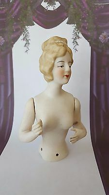Beautiful 1920'S Style French Society Lady (Movable Jointed Arms) Half Pin Doll