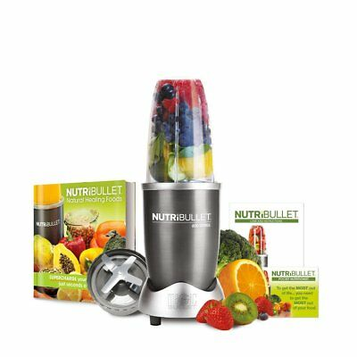 NutriBullet Graphite 600 Seriess 6-Piece Set Juicer, with Natural Healig book