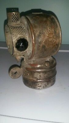 Vintage Carbide King Bicycle Light Lamp Lantern Geo. H. Clowes parts or repair