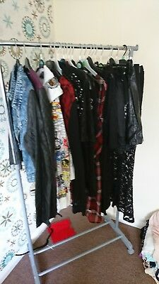 bundle of goth clothes blaxk witch occult killstar living dead souls leather...
