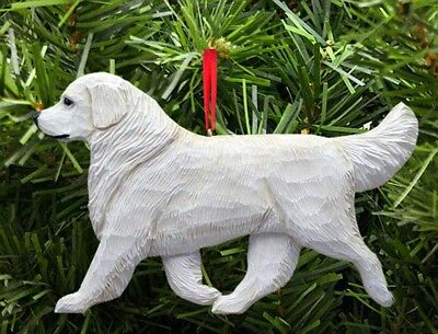 Golden Retriever Ornament Cream
