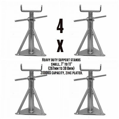"""Static Caravan Axle Stand x 4 Small 7"""" to 11"""" (180mm to 280mm) NCC Approved"""
