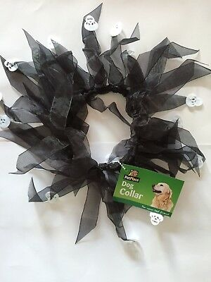 Halloween Dog Collar Trick or Treat Pet Dogs Costume NEW BNWT