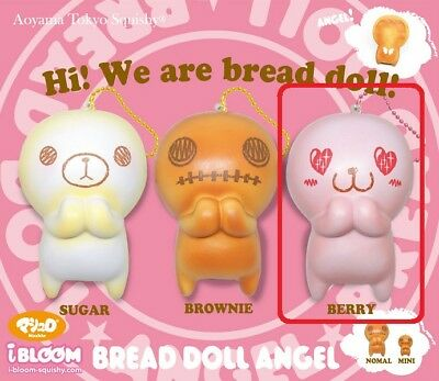 License Rare Ibloom Bread Doll Angel Berry Jumbo Size Squishy Scented