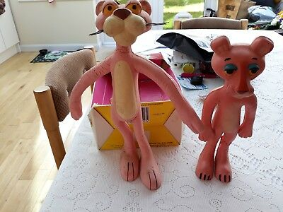 Vintage Bendy Pink Panther x 2 - 1 in box and 1 other - 1964 & 1986?