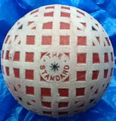 SUPERB THE STANDARD LARGE MESH GOLF BALL c1910