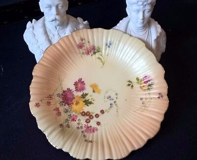 Antique Royal Worcester floral plate 1905