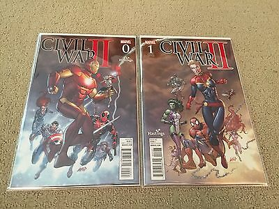 Civil War II #0-1 Marvel Hastings Variant Rob Liefeld Connecting Free Ship