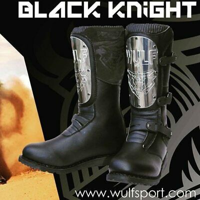 Wulfsport Black Knight Boots Trials Motorbike Motocross MX Leisure