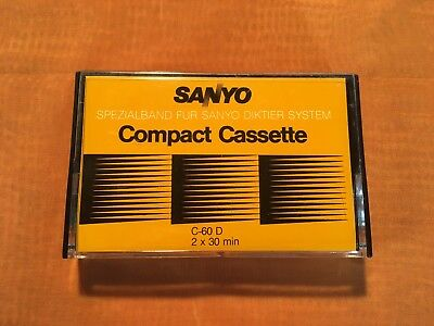 1 x SANYO C 60 D Compact Cassette,Spezialband,sehr guter Zustand,very rare