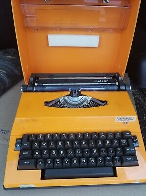 Vintage Adler Meteor Orange Typewriter