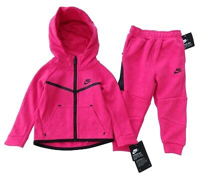 NIKE baby girl hooded pink TRACKSUIT 12 18 24M TECH PACK design (85 90cm) BNWT