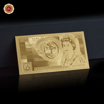 WR Old England £10 Ten Pound Note Nightingale Gold Foil Novelty Banknote 1975-94
