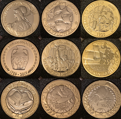 1986-2020 £2 Two Pounds coins King James Bible, Mary Rose, Olympics, NI, England