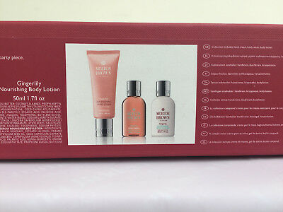 New Molton Brown Christmas cracker Gingerlily body wash, lotion and handcream