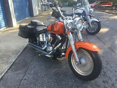"2003 Harley-Davidson Softail  2003 HARLEY DAVIDSON ""FLSTF"" CUSTOM PAINT!  FAIR CONDITINO! DONT MISS OUT"