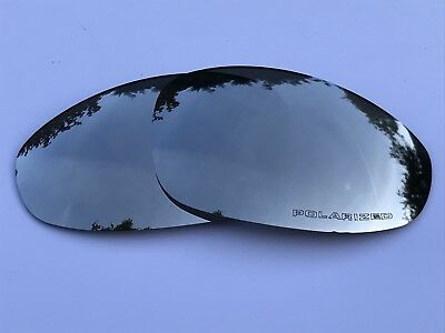 Engraved Polarized Chrome Silver Custom Mirror Replacement Oakley Juliet Lenses