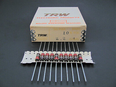 (5x) IRC TRW 2W 10% Molded Wire Wound Resistors BWH Series New Old Stock Vintage