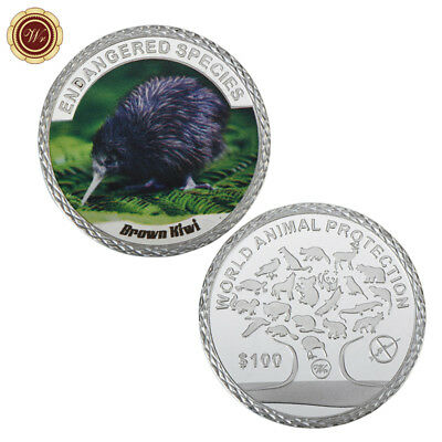 WR New Zealand Brown Kiwi Bird 1oz Silver Coin $100 Dollar Novelty Gifts for Her