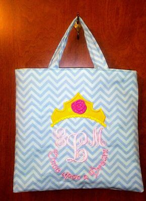 Monogrammed Sleeping Beauty Once Upon A Dream Tote Bag