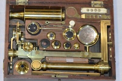Ca.1820 Very Fine Large Jones' Most Improved Microscope by Schmalcalder