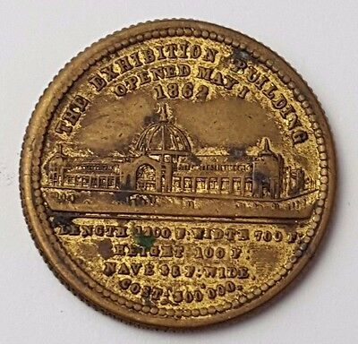 Queen Victoria - The Exhibition Building - Opened May 1st 1862 - Token / Coin