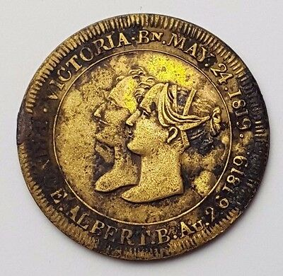 Dated : 1840 - Marriage of Queen Victoria and Prince Albert - Rare Token / Coin