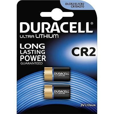 2 X Duracell CR2 Lithium Photo Camera Batteries TWIN PACK
