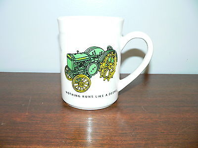 Gibson John Deere Ceramic Coffee Mug~Nothing Runs Like a Deere