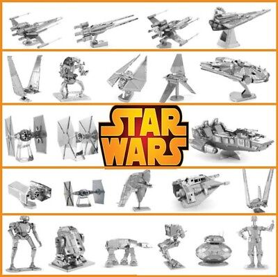 Star Wars 3D Metal Model Puzzle 21 Multi-Style Jigsaw Assembly Kids Fun DIY NEW