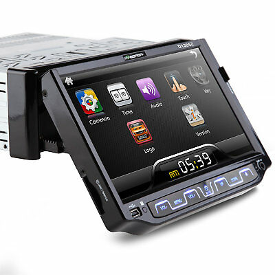 "7"" Single Din Car Stereo Radio DVD CD Player MP3 Bluetooth FM/USB SD (No GPS) B"