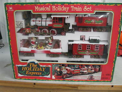 The Holiday Express Christmas Train set Vintage New Bright toys