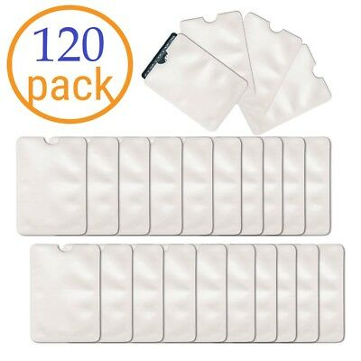 Wholesale 120 Pack Anti Theft RFID Blocking Credit Card ID Sleeve Protector
