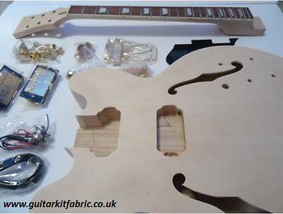 DiY Electric Guitar kit - Gold Semi-Hollow ES335 Gibson