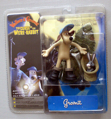 WALLACE & GROMIT Curse of the Were-Rabbit MIT HASE Action Figure McFarlane 2005